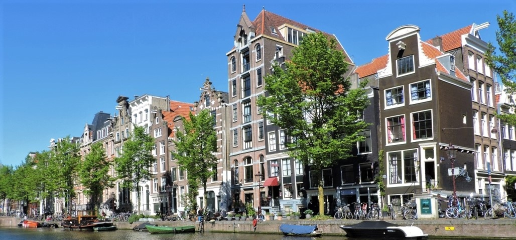 Beautiful Amsterdam Canal Houses on Herengracht