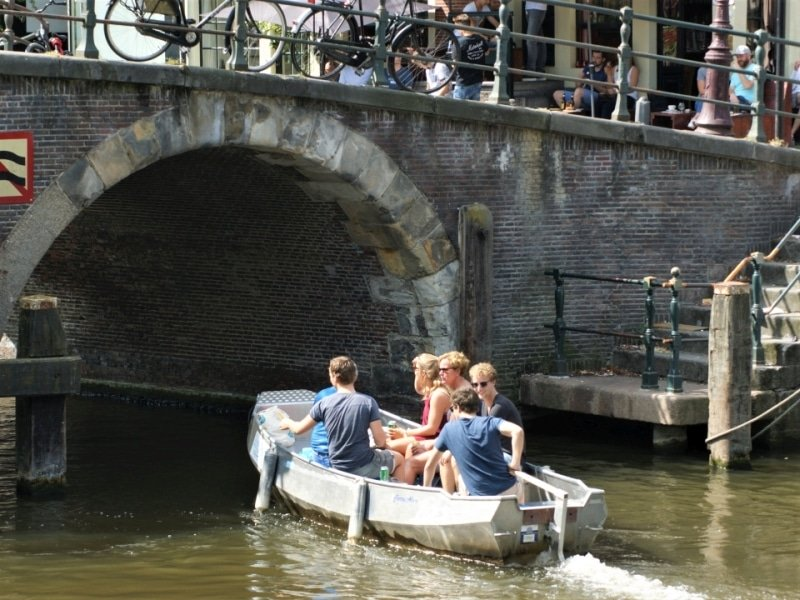 Enjoying the Amsterdam canals with a private boat rental