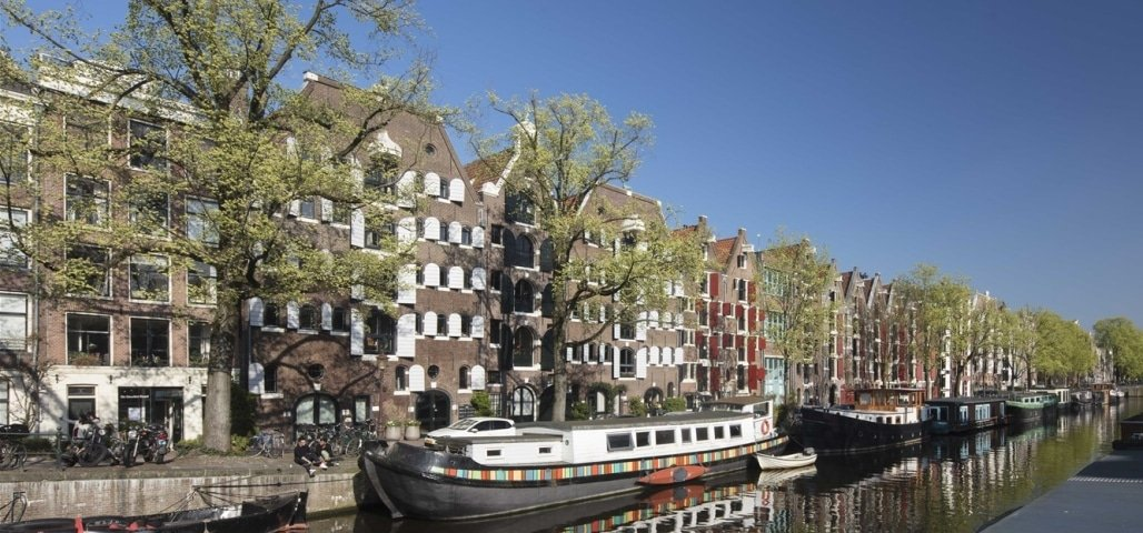 The most beautiful canal of Amsterdam is Brouwersgracht